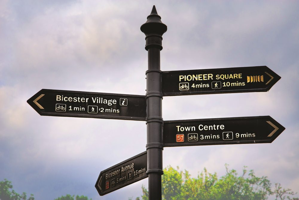 bicester signpost